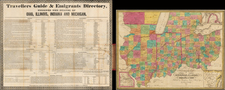 Midwest Map By Humphrey Phelps  &  Bela S. Squire