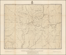 Southwest, Rocky Mountains and Colorado Map By George M. Wheeler