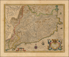 Spain Map By Jodocus Hondius