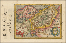 Russia, Baltic Countries, Balkans and Russia in Asia Map By Jodocus Hondius