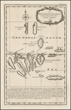 The Gallapagos Islands Discovered and Described by Capt. Cowley in 1684 By Emanuel Bowen