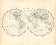 World and World Map By W. & A.K. Johnston