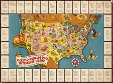 United States Map By Walt Disney