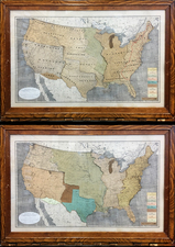United States Map By James Merritt Ives