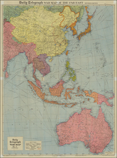 China, Japan, Korea, Southeast Asia, Philippines and Australia Map By Geographia