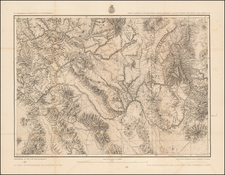 Southwest, Arizona and New Mexico Map By George M. Wheeler