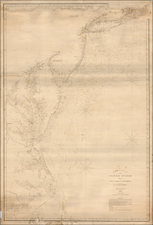 New York State, New Jersey, Maryland, Delaware, Virginia and North Carolina Map By E & GW Blunt