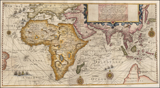 Eastern Hemisphere, Indian Ocean, China, Korea, India, Southeast Asia, Other Islands, Central Asia & Caucasus, Middle East, Africa, Africa, East Africa, African Islands, including Madagascar and Australia Map By Theodor De Bry