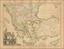 Greece, Turkey and Turkey & Asia Minor Map By Jean Janvier / Jean Lattre