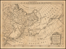 A New Map of the North East Coast of Asia, and North West Coast of America, with the late Russian Discoveries. By London Magazine