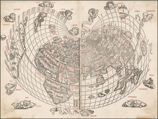 World and World Map By Bernardus Sylvanus