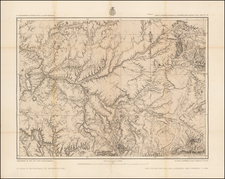 Southwest and Arizona Map By George M. Wheeler