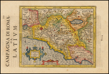 Italy Map By Henricus Hondius - Gerhard Mercator