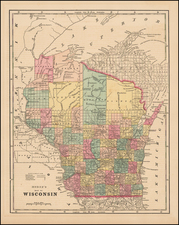 Midwest and Wisconsin Map By Sidney Morse