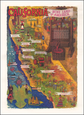 Pictorial Maps and California Map By Amado Gonzales