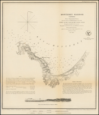 Monterey Harbor California . . . 1852 By United States Coast Survey