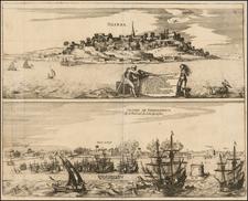 Brazil Map By Theodor De Bry / Matthaus Merian