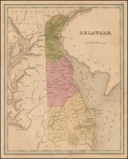 Mid-Atlantic and Delaware Map By Thomas Gamaliel Bradford