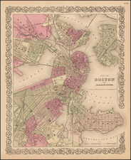 Massachusetts Map By Joseph Hutchins Colton
