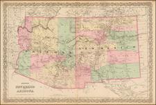 Southwest Map By G.W.  & C.B. Colton