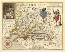 Maryland and Virginia Map By John Smith