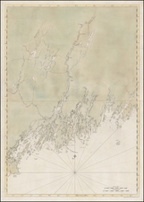 Maine and American Revolution Map By Joseph Frederick Wallet Des Barres