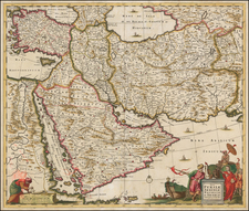 Central Asia & Caucasus, Middle East and Persia Map By Frederick De Wit