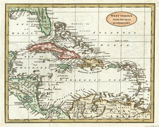 South and Caribbean Map By William Guthrie