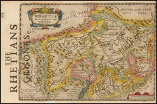 Switzerland Map By Henricus Hondius - Gerhard Mercator