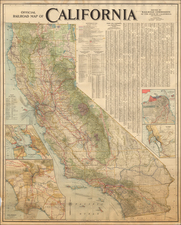 California Map By Railroad Commission of the State of California