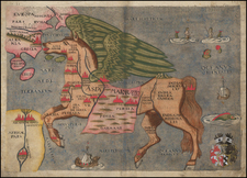 Asia, Asia, China, Southeast Asia, Curiosities and Comic & Anthropomorphic Map By Heinrich Bunting