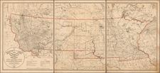 Midwest, Plains and Rocky Mountains Map By U.S. Army Corps of Topographical Engineer