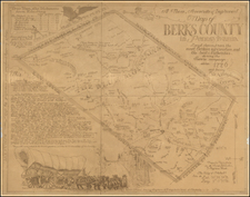 Pennsylvania Map By J. R. Rowe