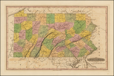 Mid-Atlantic and Pennsylvania Map By Fielding Lucas Jr.