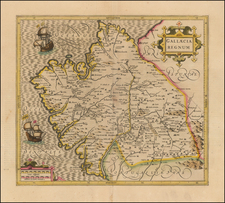Spain Map By  Gerard Mercator