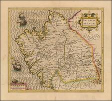 Spain Map By  Gerard Mercator