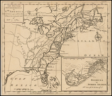 United States and Caribbean Map By Gentleman's Magazine