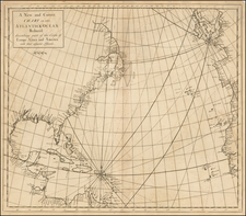 Atlantic Ocean, United States, New England, Mid-Atlantic, Southeast and Canada Map By Edmund Halley / Nathaniel Cutler