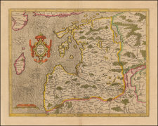 Baltic Countries Map By Henricus Hondius /  Gerard Mercator