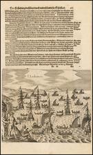 Oceania Map By Theodor De Bry / Matthaus Merian