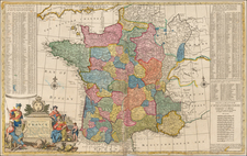 France Map By Herman Moll