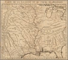 South, Southeast, Texas, Midwest, Plains, Southwest and Rocky Mountains Map By J.F. Bernard