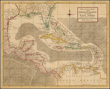 South, Southeast, Texas and Caribbean Map By Thomas Kitchin / London Magazine