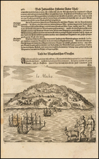 South America and Chile Map By Matthaus Merian