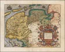 Netherlands Map By Frans Hogenberg