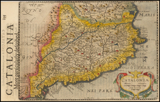 Spain Map By Jodocus Hondius - Johannes Cloppenburg