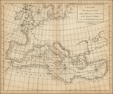 Europe, Europe and Mediterranean Map By John Senex / Edmund Halley / Nathaniel Cutler