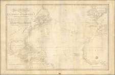 Atlantic Ocean, North America and Central America Map By Direccion Hidrografica de Madrid