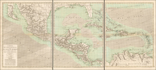Florida, South, Southeast, Texas, Mexico and Caribbean Map By Rigobert Bonne