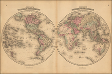 World and World Map By Alvin Jewett Johnson / Ross C. Browning
